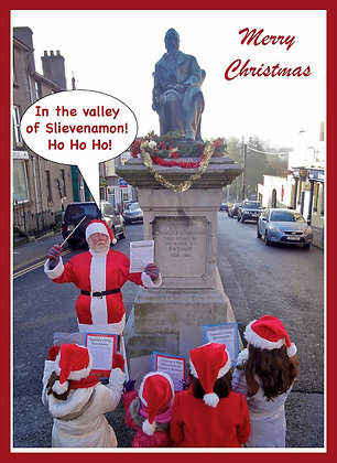Santa sings Slievenamon beside Kickham Statue