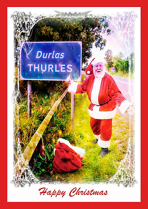 Santa at Thurles Welcome Sign