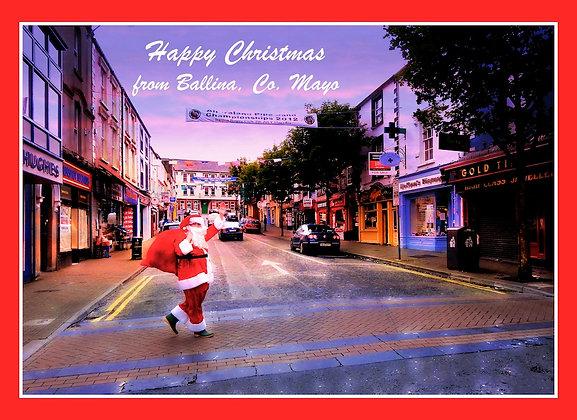 Santa on walkabout in Ballina Co. Mayo