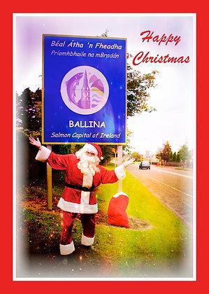 Santa at Ballina Sign Co. Mayo