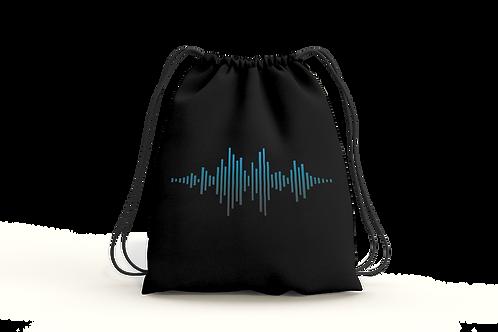 Sound Wave - Draw String Bag (Black)