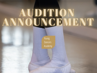 Audition Dates for 2022 Announced