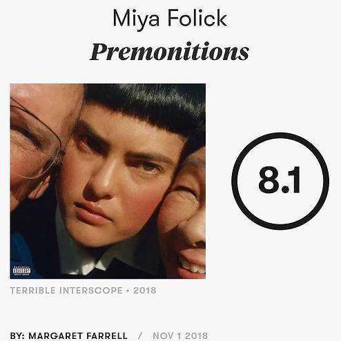 Yves Rothman, Miya Folick, Preminitions, Pitchfork,