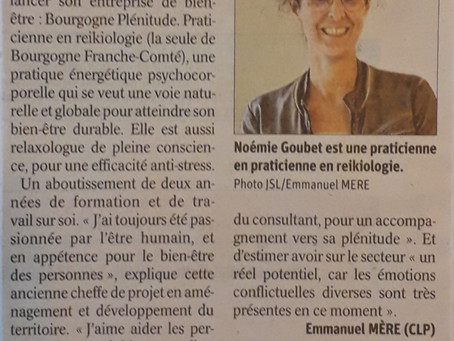 Bourgogne Plénitude est dans le Journal de Saône et Loire