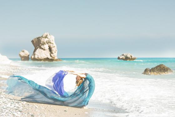 Aphrodite Yoga photoshoot Vanity Fair style