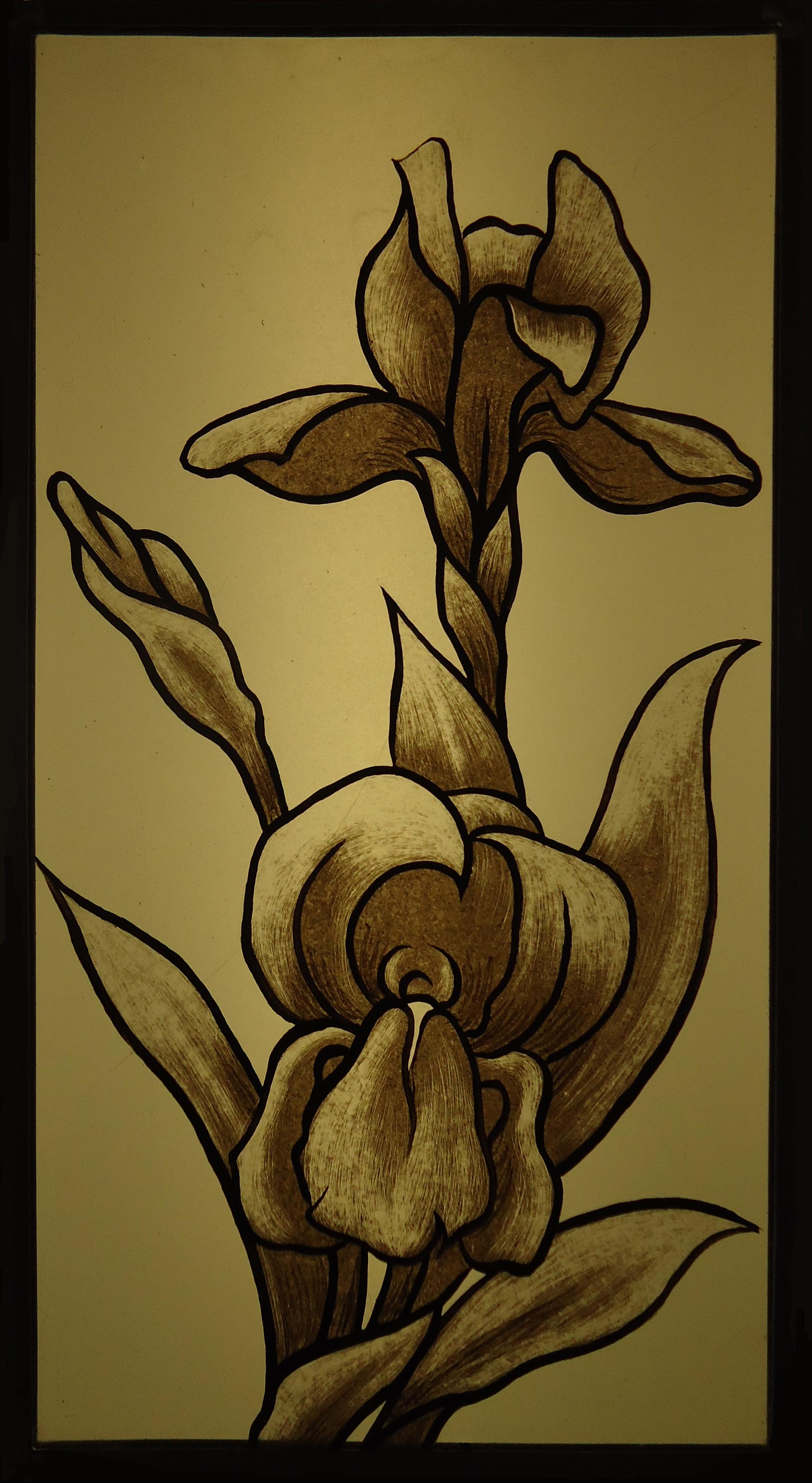 iris grisaille