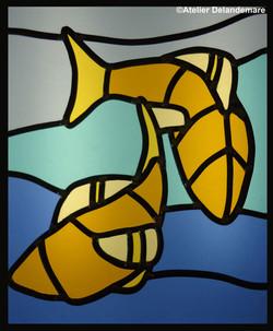 poissons CAP vitrail