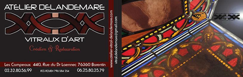 carte de visite Atelier Delandemare Vitraux d'Art