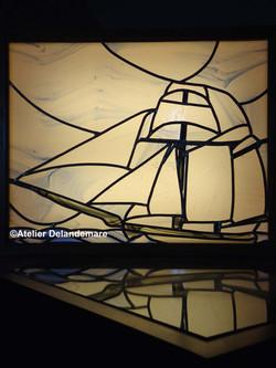 Vitrail voilier