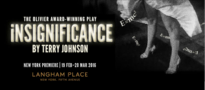 "Graphic for stag production of play, ""Insignificance"" by Terry Johnson presented by Hang a Tale"