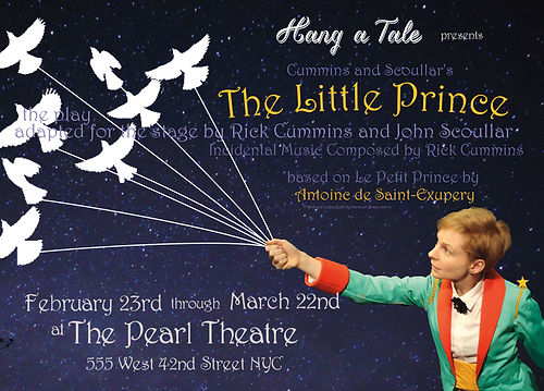 "Graphic for stage production of play, ""The Little Prince"" by Antoine de Saint-Exupery presented by Hang a Tale"