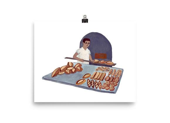 Turkish Baker Print