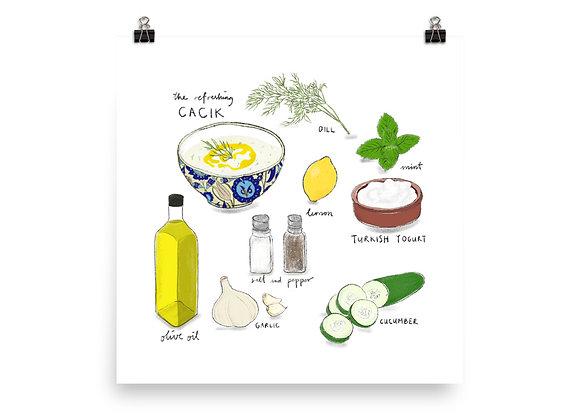 Cacık Recipe Print