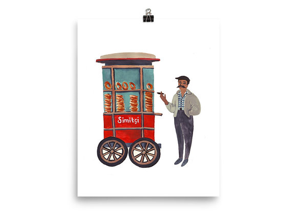 Turkish Simit Vendor Print