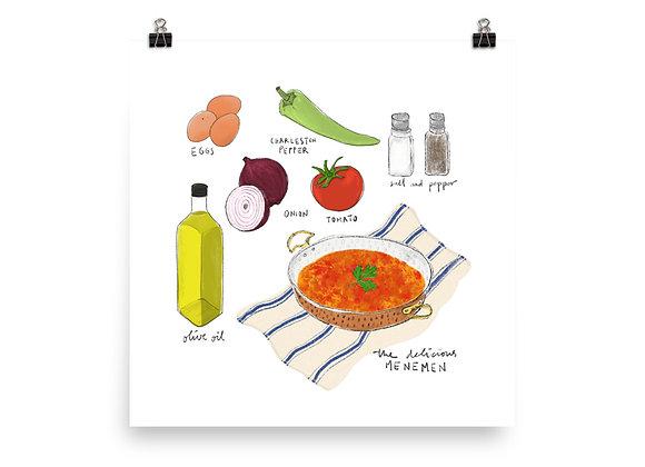 Menemen Recipe Print