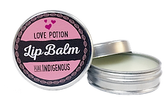 Pure Indigenous love lip balm with South African essential oils, coconut oil, beeswax