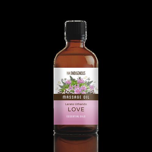 Pure Indigenous Love Massage Oil front