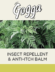 Gogga natural insect repellent and anti-itch balm featuring Artemisia Afra Wormwood