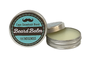 Pure Indigenous South African beard balm with essential oils, coconut oil, beeswax, Cape Snowbush