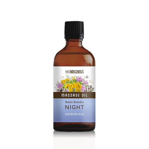 Pure Indigenous Night Massage Oil front