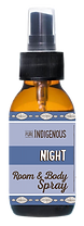 Pure Indigenous Night Room & Body Spray with a blend of indigenous South African essential oils