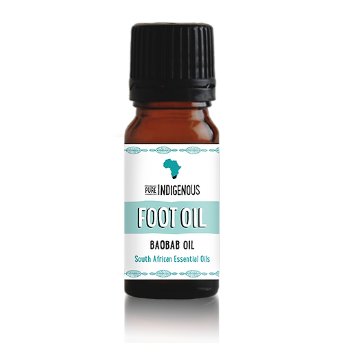 Baobab Foot Oil, deeply moisturising blend of Omega-rich Baobab oil and beneficial indigenous South African essential oils.