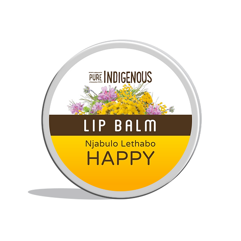Pure Indigenous Lip Balm Happy 10g beeswax, mango butter, coconut oil, macadamia oil, shea butter and sunflower oil