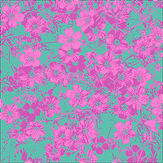 Lucy Cooper floral greetings card