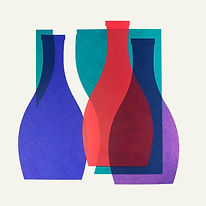Lucy Cooper screenprint bottles