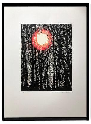 winter trees screenprint lucy cooper