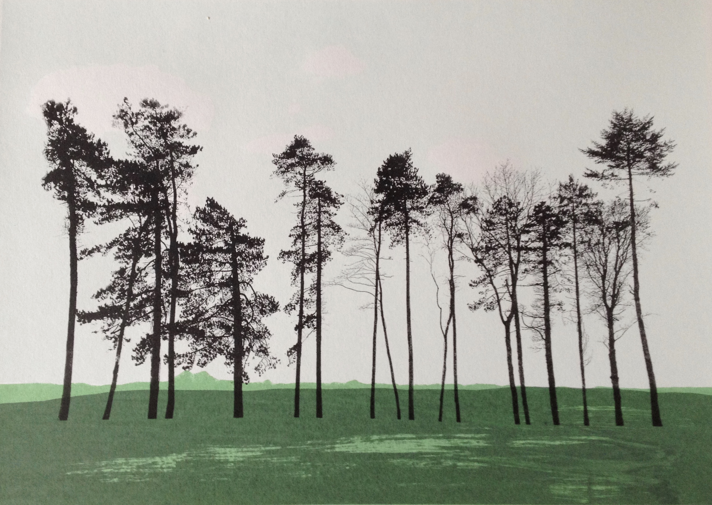 Oxfordshire trees winter