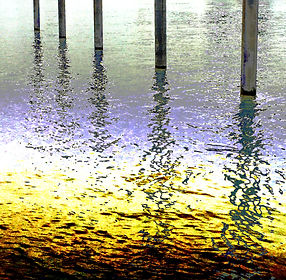 Lucy Cooper Docklands Posts Reflecton limited edition giclée print