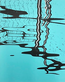 Docklands reflection Lucy Cooper screenprint