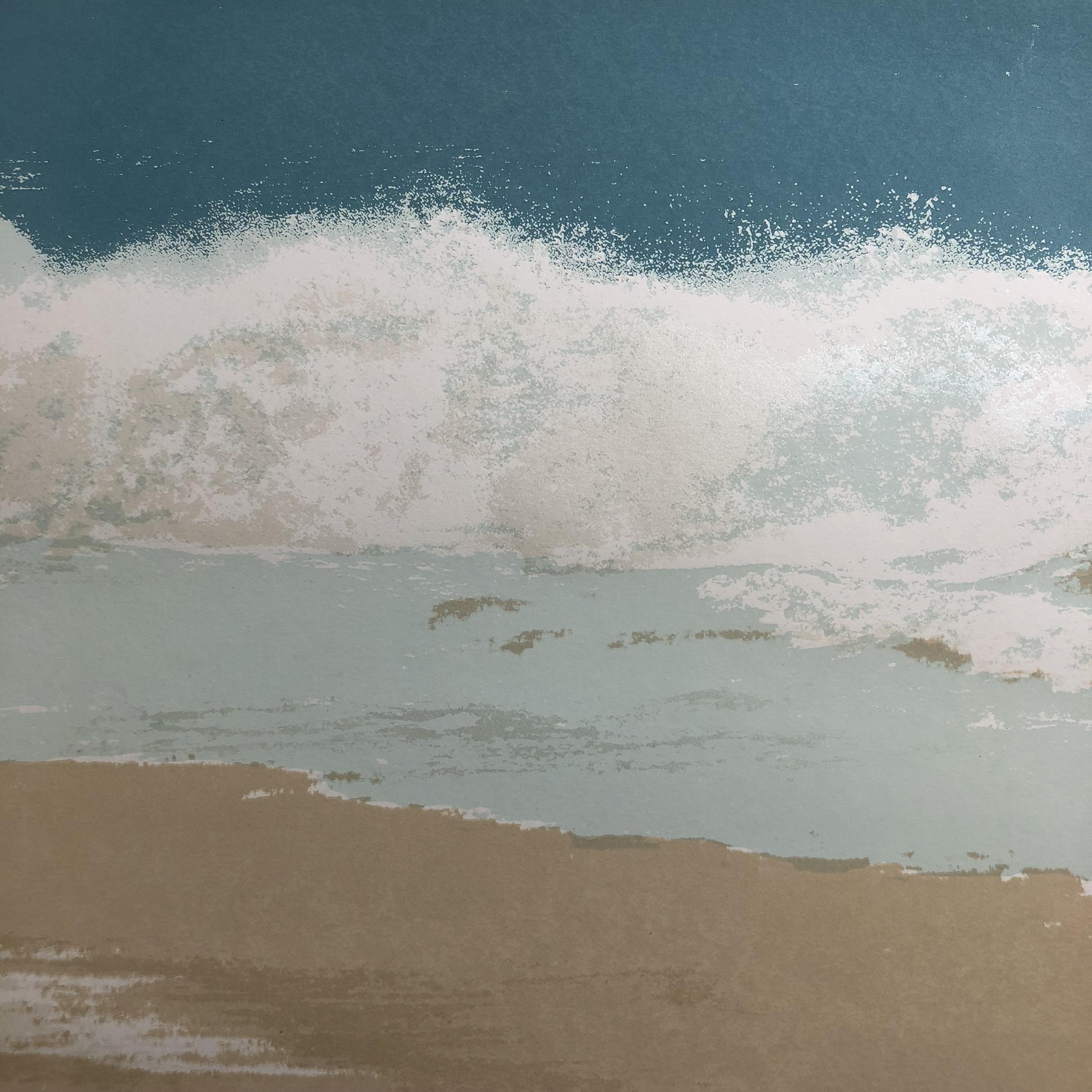 Waves screen print