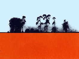 Oxfordshire field screenprint