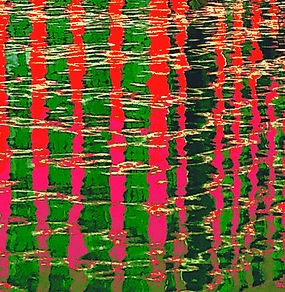 Lucy Cooper print Canada Water reflection