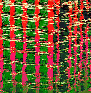 Lucy Cooper Canada Water Reflections giclee limited edition print