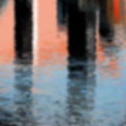 Canary Wharf reflection