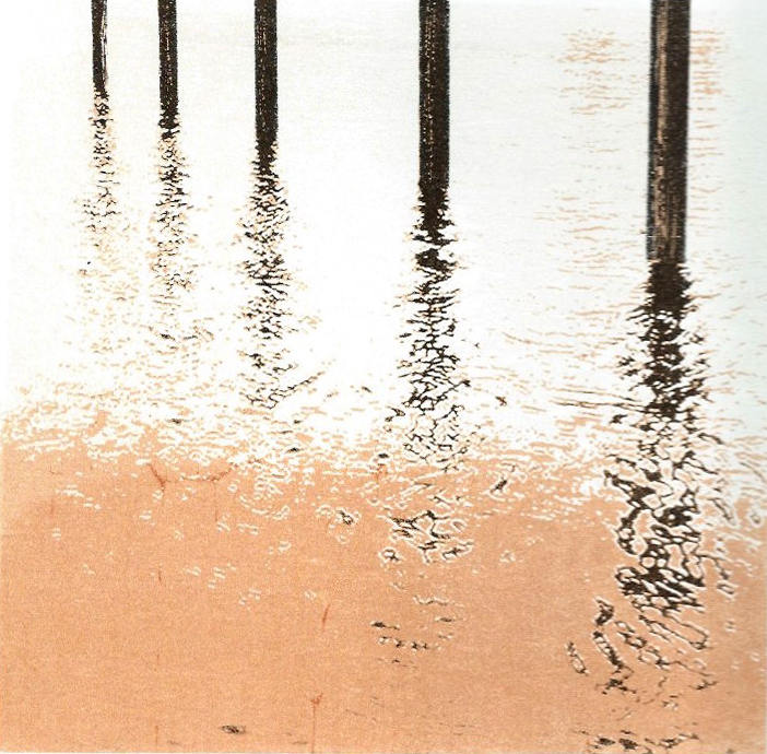 River Thames posts - screenprint