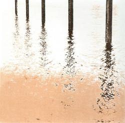 River Thames posts - screenprint