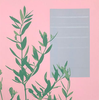 Lucy Cooper screenprint At the window