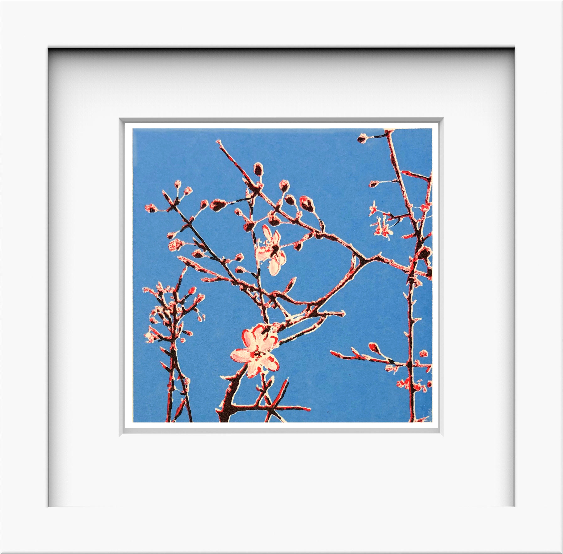 blossom miniprint framed