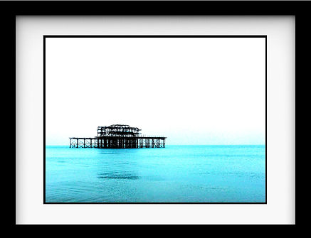 Brighton pier framed thumbnail with moun
