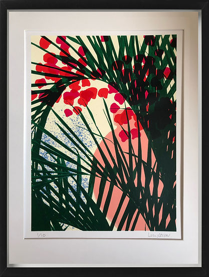 tobago palm screenprint lucy cooper