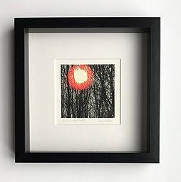 miniprint of winter trees