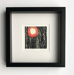 Winter trees 2 limited edition screenprint by Lucy Coope