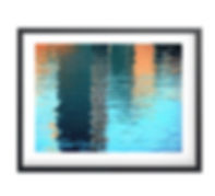 Canary wharf reflection 350 x 258 framed