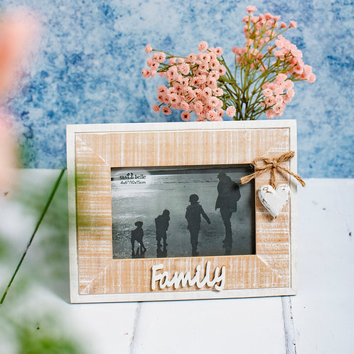 Rustic Wooden 'Family' Frame