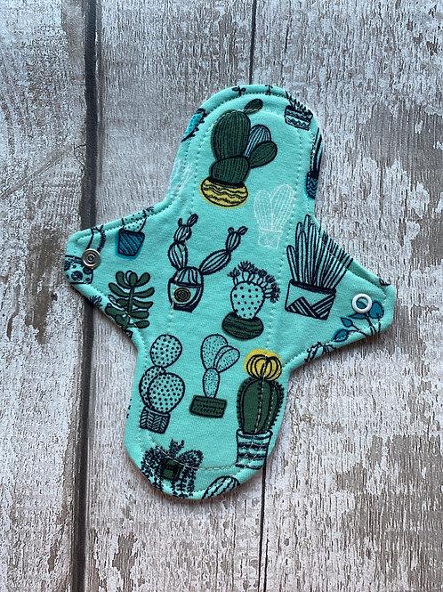 "Cloth Sanitary Pad 7"" Regular - Mint Cacti"