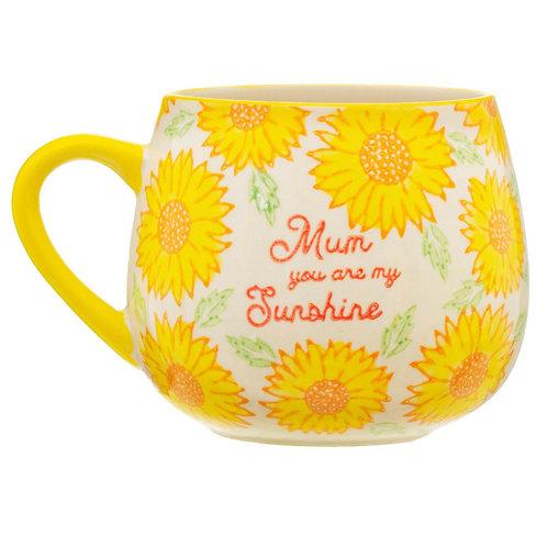Sunflower Yellow 'Mum' Mug